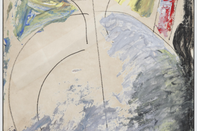 Anatoly Zverev (1931–1986) Vase, 1958 Gouache on paper 57 х 40 cm Courtesy of Vellum Gallery.