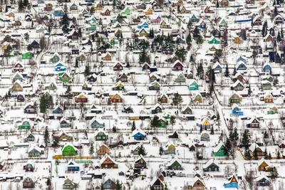 Fedor Savintsev (b. 1982) Houses. 2008 C-print under plexiglass 120 х 180 cm © Glaz Gallery