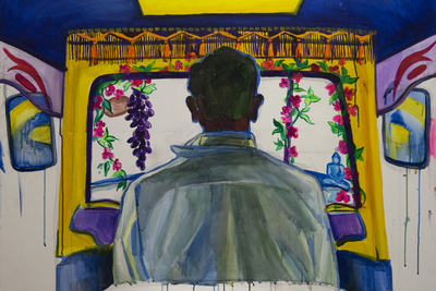 Anastasia Omelchenko (b. 1991)  Tuk tuk 1, 2019 Acrylic on canvas 85 х 110 cm Courtesy of Omelchenko Gallery.