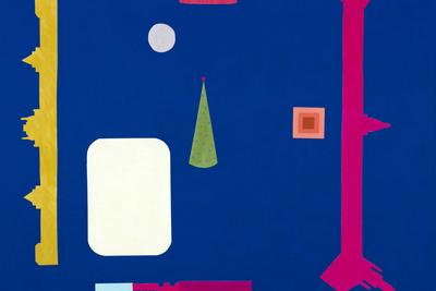 «Красная площадь» Кирилл Кипятков (р. 1987)   Светоотражающая ткань, акрил, светоотражающие материалы. 130х130см. 2021  Публикуется с разрешения LUCH Gallery