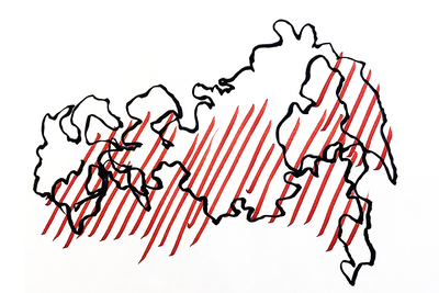 Untitled. Map Evgeny Granilshchikov (b. 1985)  Video Performance. 2021  Courtesy of Evgeny Granilshchikov