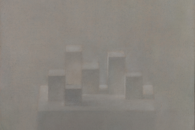 Vladimir Weisberg (1924–1985) Composition with Cubes. 1980 Oil on canvas 46 х 47 cm © ART4