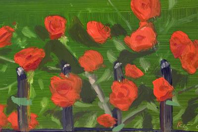 ALEX KATZ (b. 1927) Roses, 2001 Oil on board 16.5 х 30.5 cm © Pablo Gómez Zuloaga. Courtesy Galería Javier López & Fer Francés, Madrid