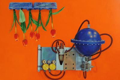 Taisia Korotkova (b. 1980) Tulips, 2018 Oil on gesso on wooden panel 40 х 50 cm © NK Gallery