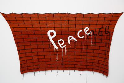 Olga Bozhko (b. 1974) Peace (дец). 2015 Knitwork 120 x 150 cm Courtesy of the artist & Galerie Iragui