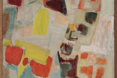 Александр Гарбель (1903-1970)  «Композиция», 1956 Холст, масло 100 х 81 см © Галерея «Палисандр»