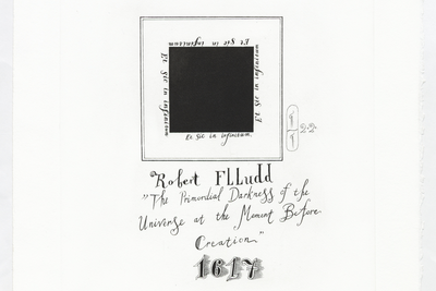 I from the Robert Fludd's Black Square series Pavel Pepperstein  (b. 1966)  Engraving on paper 35 x 47 cm Edition: 30  Courtesy Shaltai Editions and the artist