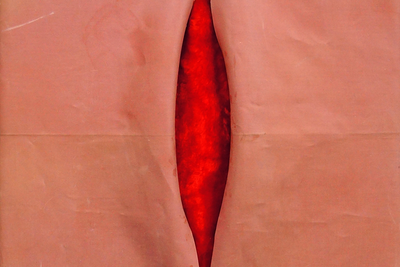 Igor Makarevich (b. 1943) Slit, 1996 Fabric, wood 71 x 45 x 7 cm © XL Gallery
