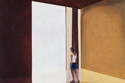 HANS VANDEKERCKHOVE (b. 1957) Window to the South, 2015 Oil on canvas 100 x 80 cm Courtesy NK Gallery