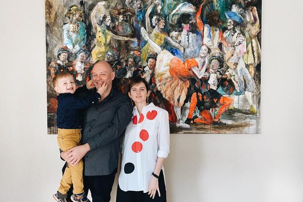 Alexey, Vera and Fedor Priyma  Moscow  «Dyagilev centipede», 2018