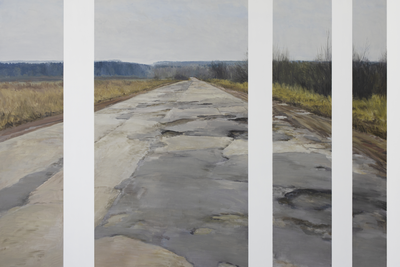 Egor Plotnikov (b. 1980) Beyond the distance, 2019 Oil on canvas 170 x 250 cm Courtesy of KultProect Gallery.