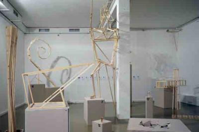 ZIP Group Utopian skeleton, 2014 installation (wood, metal, plaster) Courtesy ХL Gallery