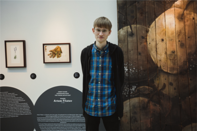 Artem Filatov - the winner of the Credit Suisse Cosmoscow Prize for Young Artists