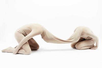 Malin Bülow (b. 1979) Framed Elasticity, 2012. Wooden frame, lycra 400 х 800 cm.